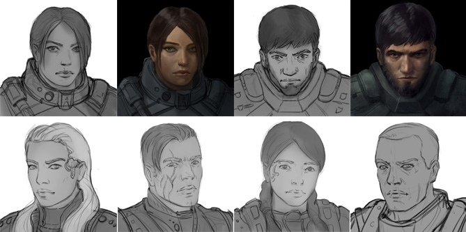 Stellar Tactics portraits in development